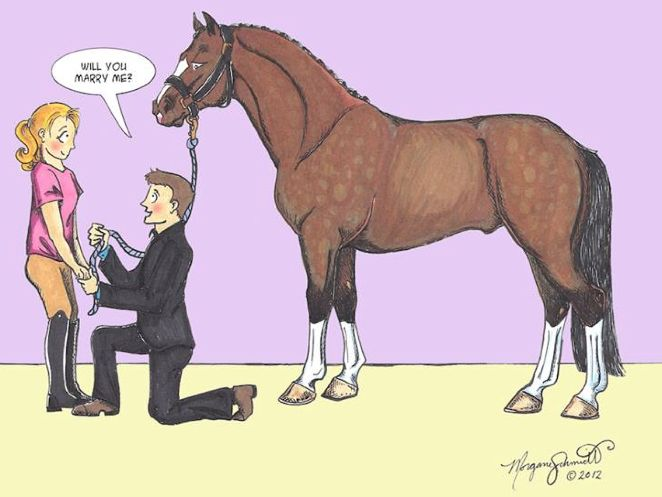 if a man asked me, I don't care who it is, he obviously knows me very well so I would marry him in a heartbeat. (actually you don't have to know me that well to know that I am a horse nerd but still)