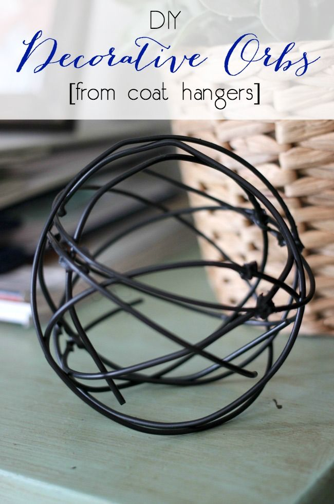 Love these modern decorative orbs! Can't believe they came from coat hangers. Great video tutorial!