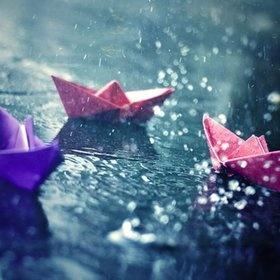 Boats in Rain