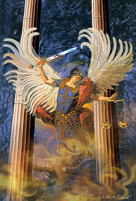 archangel Raguel is known as the angel of justice and harmony. He works for God's will to be done in human relationships, so they can experience fairness and peace.