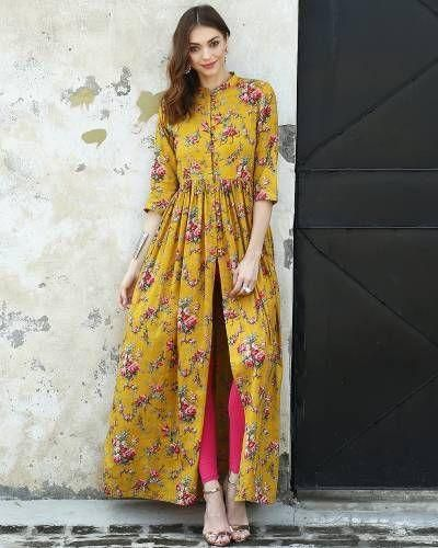 Floral suit in georgette. Different floral patterns and colors are available.