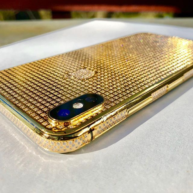 iPhone X 24K Gold Crystal   Limited Edition in 2020   Mobile case cover. Iphone. Gold
