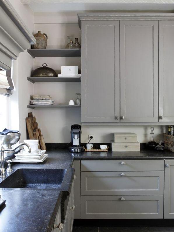 10 cuisines coup de coeur très chic en camaïeu de gris ! - @decocrush