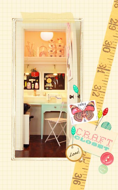 closet sewing room...