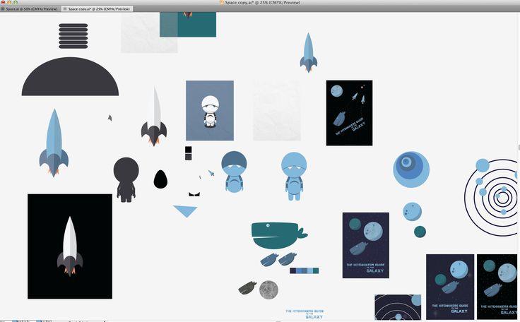 Screenshot of a working file