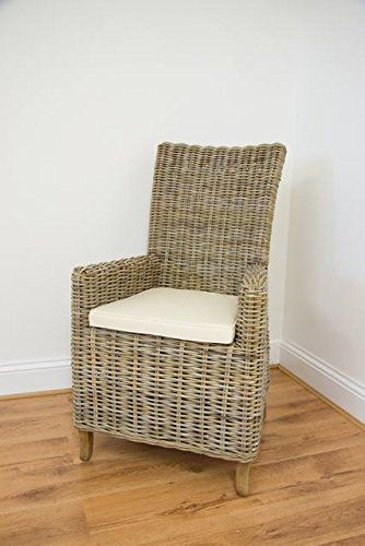 Natural Wicker Kubu Grey Latifa Armchair