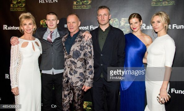 25th Anniversary Concert For The Rainforest Fund - After Party Gilbert Carrasquillo Actress Trudie Styler, Giacomo Luke Sumner, Sting, Joseph Sumner, Fuschia Sumner and Mickey Sumner attend the after party for the 25th Anniversary concert for the Rainforest Fund at Mandarin Oriental Hotel on April 17, 2014 in New York City.