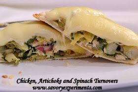 Savory Experiments: Chicken, Artichoke and Spinach Turnovers