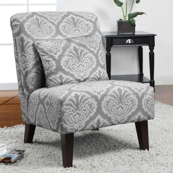 Grey Accent Chair Under 200: Anna Grey Ikat Accent Chair