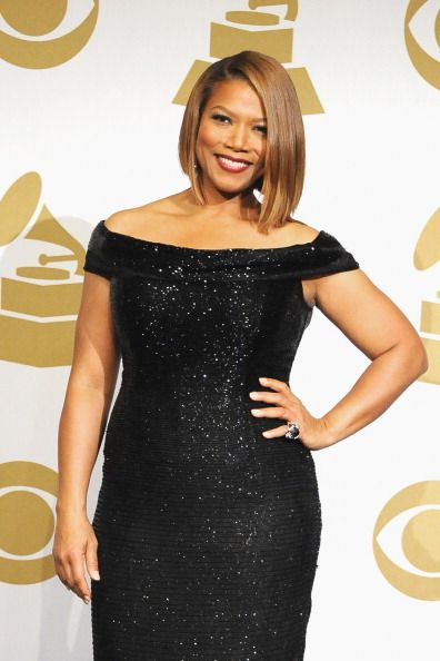 Queen-Latifah-Carmen-Marc-Volvo-2014-Grammy-Awards. She looked great and I LOVED her hair!