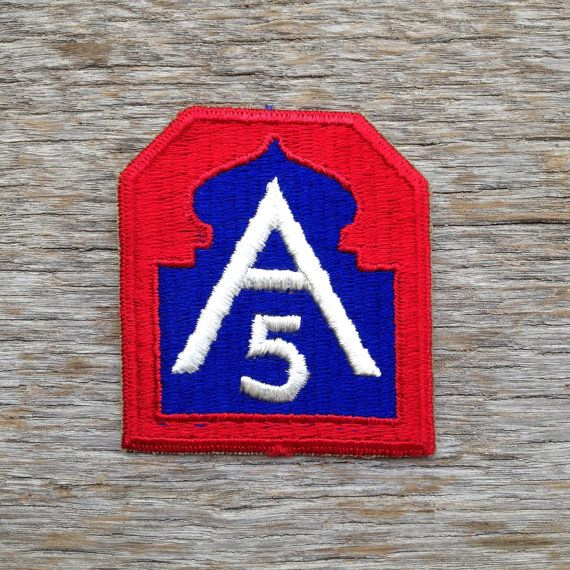 Vintage World War II Fifth Army Patch. by tincanvintage on Etsy