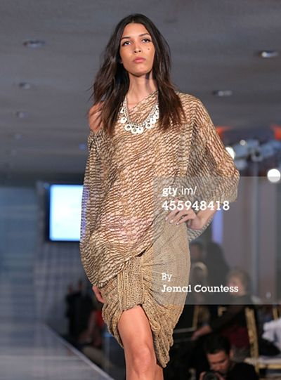 Florence Jaukae's bilum wear