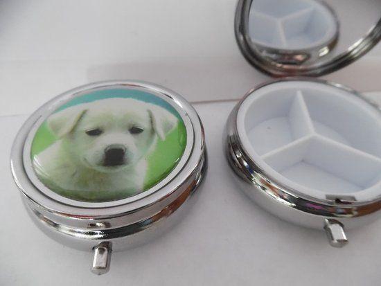 Pillendoosje hond witte labrador