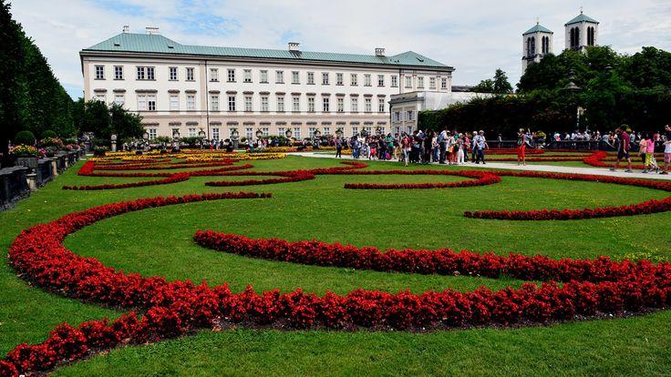 Salzburg - Mirabell Garden and Rechte Altstadt