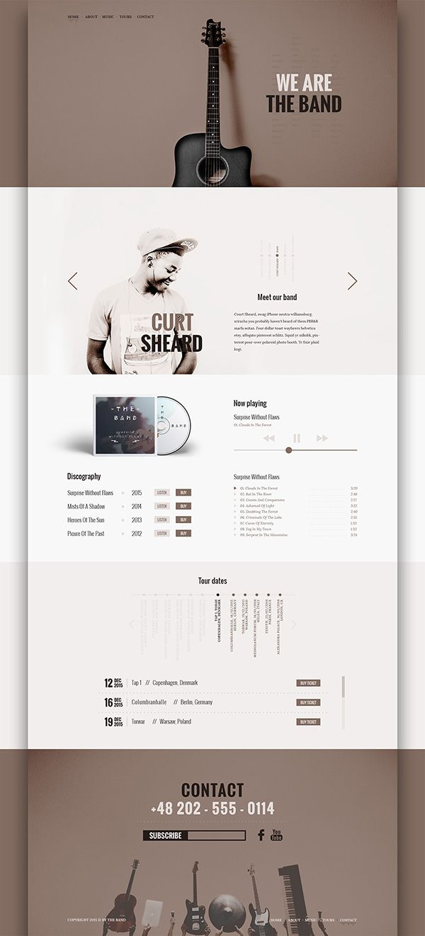 The Band - Free PSD Template