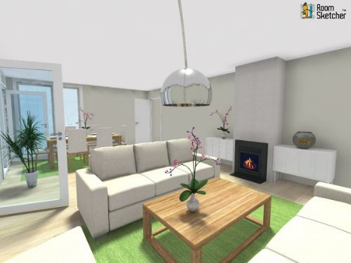 3d Floor Plan For Main Floor Of A Single Family Home From Home Builder Of