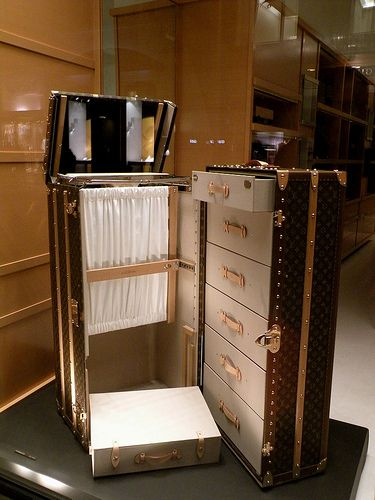 Louis Vuitton trunk... but more importantly it reminds me of the trunks Joe buys in Joe vs the Volcano. They save his life... literally!