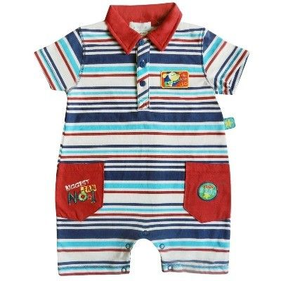 Gorgeous all in one striped baby suit..   Only £7.49