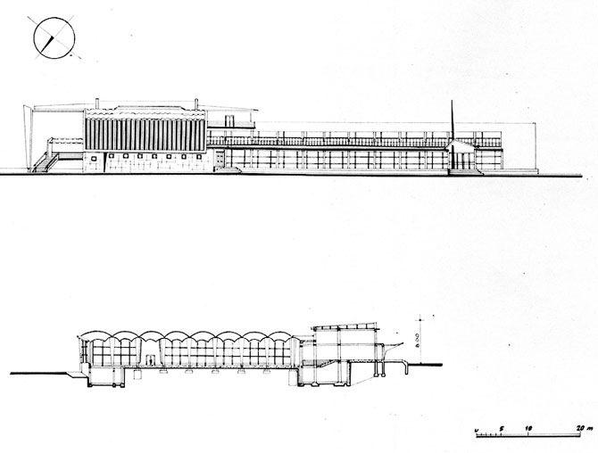 Dom Społeczno - Usługowy Chatka Żaka arch. Krystyna Różyska - Tołłoczko proj. 1958 - 1960 bud. 1962 - 1965 Lublin