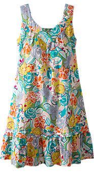 Womens Bold Floral Chemise Nightgown