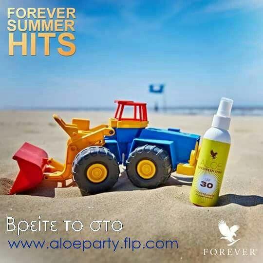 O ήλιος είναι φίλος μας, όμως με τους δικούς του όρους. Κρατήστε πάντα προστατευμένη την επιδερμίδα των παιδιών με το αδιάβροχο αντηλιακό Sunscreen Spray με SPF 30. Θυμηθείτε να επαναλαμβάνετε συχνά την εφαρμογή κατά τη διάρκεια των καλοκαιρινών παιχνιδιών στην παραλία! #ForeverSummer #ForeverSummerHits #aloevera #aloepartygreece #sunprotection