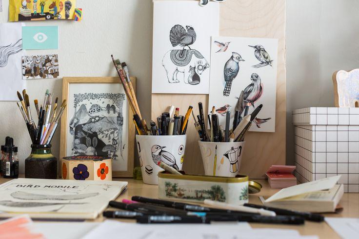 The studio desk, always a creative mess...