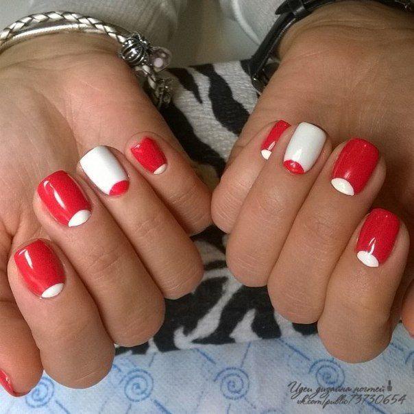 Evening dress nails, Evening nails, Half moon nails 2016, Half-moon nails ideas…