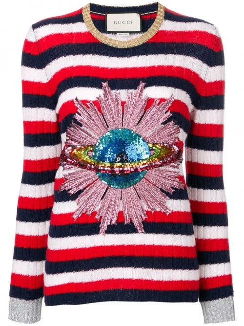 Gucci+Sequined+Planet+Jumper+Women+Polyamide+Wool+Metallic+Fibre+Polyamide+Wool+Metallic+Fibre