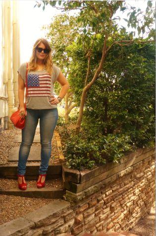 Blush & Bordeaux - Lighten Up. Forever 21, Zara jeans, Wittner heels, Oroton bag, Ray Ban sunglasses