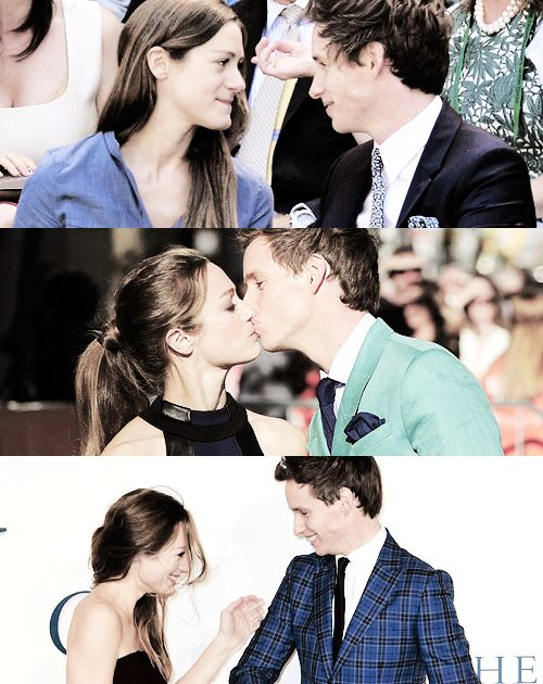 Eddie Redmayne and his wife are so adorable together I just <3