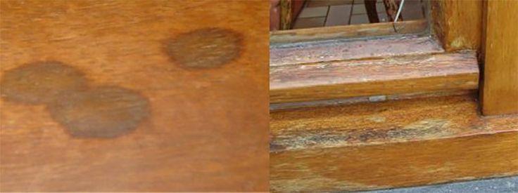 Verweerd hout en zwarte vlekken kan worden ontweerd met ontweringswater. Ontweringswater is oxaalzuur. Ontweringswater verwijderd zwarte vlekken in hout
