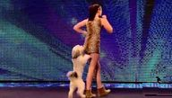 Ashleigh and Pudsey - Britain's Got Talent 2012 audition- cutest dog dancing duo ever! https://www.youtube.com/watch?v=dv_gOBi8Wpk