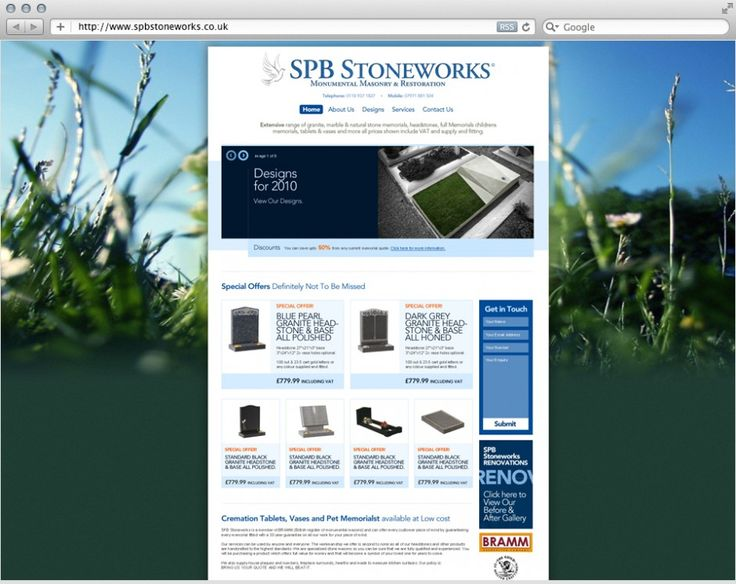 SPB Stoneworks has a vast and extensive knowledge in Stone masonry  Letter cutting and Renovation to existing memorials or old stonework. They approached siteminders to build a solution that was simple yet powerful and that would allow them to display their extensive range of Head stone designs and renovation services. We provided the elegant design and powered it with WordPress.