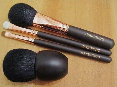 Hakuhodo Brushes for makeup application that goes on like a dream.
