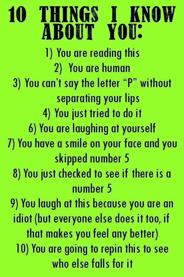 I did every one of these things lol
