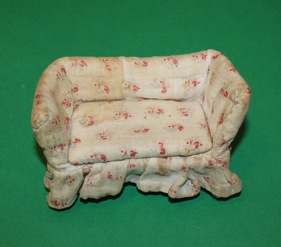 Vintage Dolls House Westacre English Sofa 1920's by kittymacminis