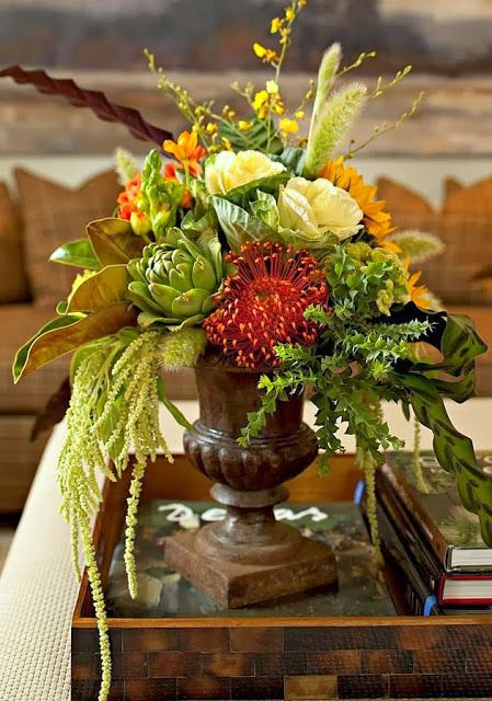 Ruth burts interiors fall decor arrangements