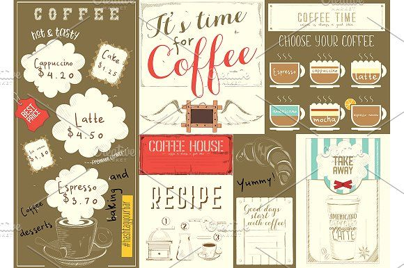Coffee Menu Placemat Coffee Menu Coffee Type Placemats