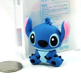 retail genuine 2G/4G/8G/16G/32G cartoon flash drive cute stitch pen drive silicone usb flash drive Free shipping F-H010 $6.99 - 22.88