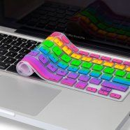 Heaps cool gadget.. Rainbow Colour Keyboard cover! $6.95  http://wicked-gadgets.com/rainbow-keyboard/  #keyboard cover #pc gadget #rainbow