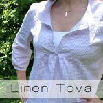 Tove top in handkerchief linen