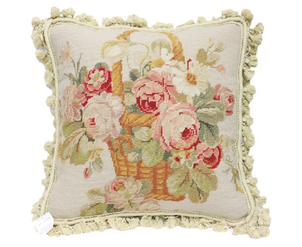 Needlepoint Pillow Decoration Crossword : 41 best images about Cabbage Rose on Pinterest Cabbage roses, Old wicker chairs and Flower basket