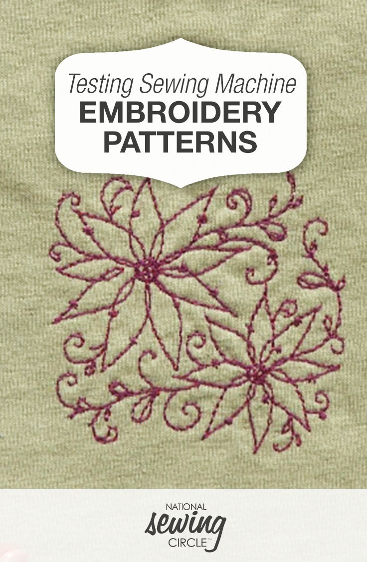 Testing Sewing Machine Embroidery Patterns | Sewing ...