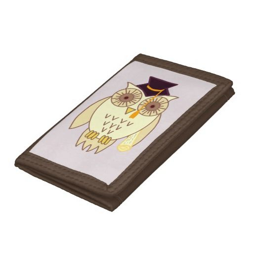 Academic Owl Trifold Wallet