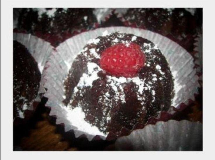 Mini Chocolate Raspberry Rum Cakes