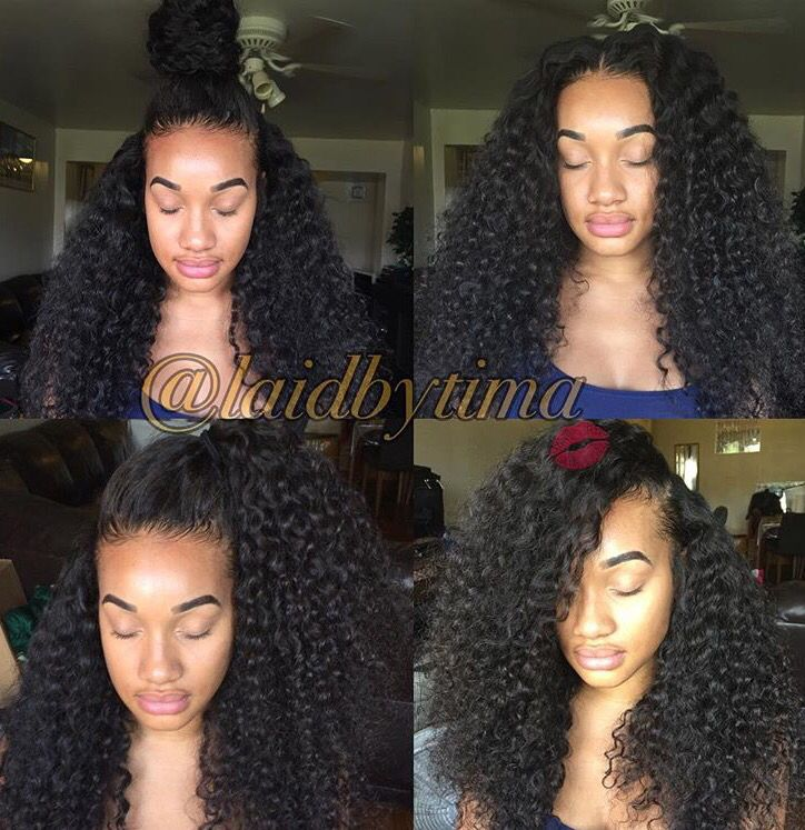 Three part sew in using Kendra's Boutique Exotic Curly