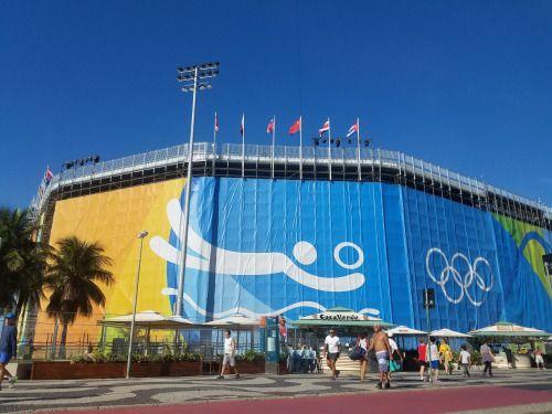 RT @noelpineiro: Ahí el estadio de voleibol playero.  #Rio2016....