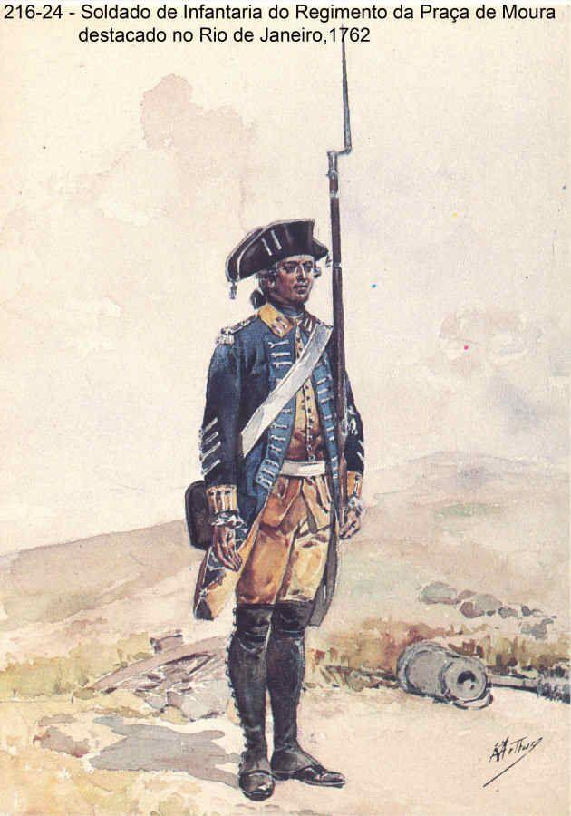 Portuguese Infantry Soldier - Rio de Janeiro, Brasil 1762