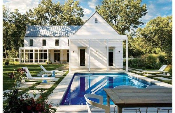 Modern Farmhouse pool via Luxe Magazine