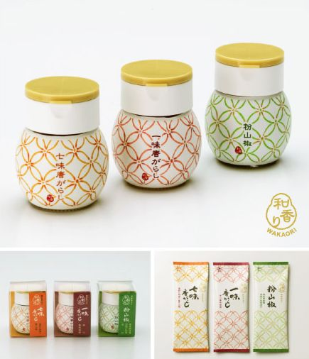 Japanese seasoning WAKAORI - Designed by PLANTA nice spice packaging PD